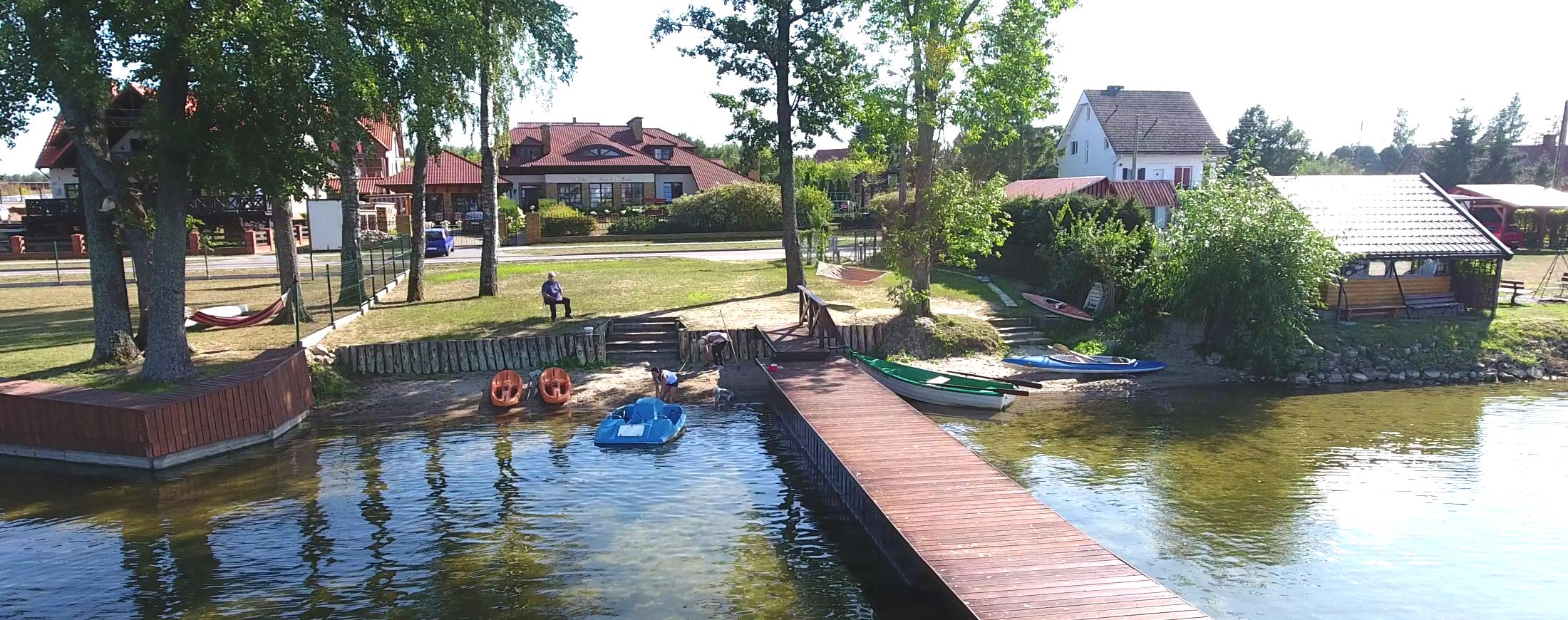 Villa Victoria Rydzewo, widok od-jeziora